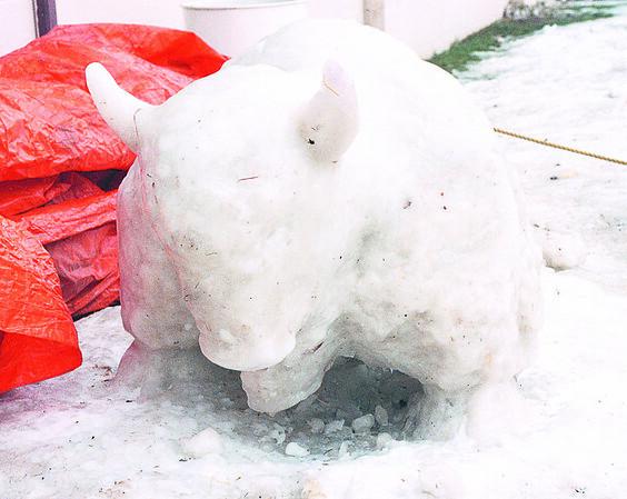 1/22/97 Ice Sculpture - James Neiss Photo - Bond lake Ice Sculputer.