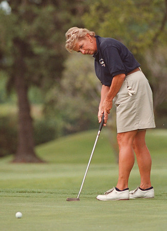 8/1/97 Nancy Riccio 1--Takaaki Iwabu Photo -- Nancy Riccio in action on 11th Hall at Niagara Frontier Country Club in Youngstown. (for feature story on her)<br /> <br /> sports, Monday, color