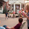 98/09/05 Middleport Celebration*Dennis Stierer Photo -<br /> The Middleport Labor Day Weekend Celebration is always a great time with ten year old Elizabeth Quackenbush blowing bubbles as The Bourbon Street Brass jazz band played in the background against a golden sunset..