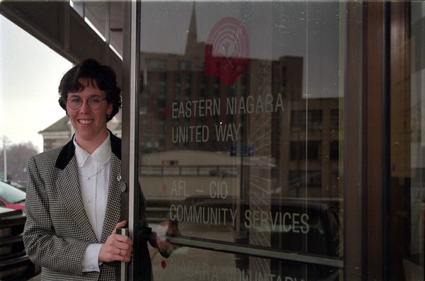 98/1/30 Flynn/united Way-Rachel Naber Photo-Kathy Flynn, executive director for eastern Niagara United Way in Lockport.