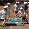 97/08/18 LewPort Football - James Neiss Photo - LewPort Football practice started today, here students go through some agility drills.