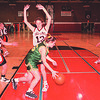 3/10/97--NW GIRLS HOOPS--DAN CAPPELLAZZO PHOTO--NW GIRLS, (LTOR) ANGLEA TYLEC (#23), JENNIFER GRAWE (#13) AND CHRISSY MILLEVILLE (#12) BOX OUT  KENMORE EAST AT NW .