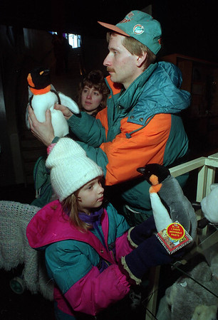 2/8/97 Aquarium Visit - James Neiss Photo - Kelly Miles 7yrs came with Neighbors Michael and Laura Kdalski of the town of tonawanda, for a visit to the NF aquarium.