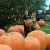 98/10/07 Pumpkin Patch *Dennis Stierer Photo - COLOR<br /> Eric Stanley,6 and his younger brother Derrick,5, made that trip to the Great Pumpkin Patch on Knowlesville Rd., where the perfect pumpkin could be found.