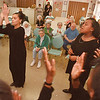 "2/10/97--HERITAGE MANOR/LASALLE SCH--DAN CAPPELLAZZO PHOTO--CECI COLVIN  (LEFT) LEADS THE LASALLE MIDDLE SCHOOL GOSPEL CHOIR , ""INSTPERATIONS"" AS HER SISTER AMANDA COLVIN SINGS THE LEAD AT THE HERITAGE MANOR HOME AS PART OF  KINDNESS WEEK.<br /> <br /> LOCAL"