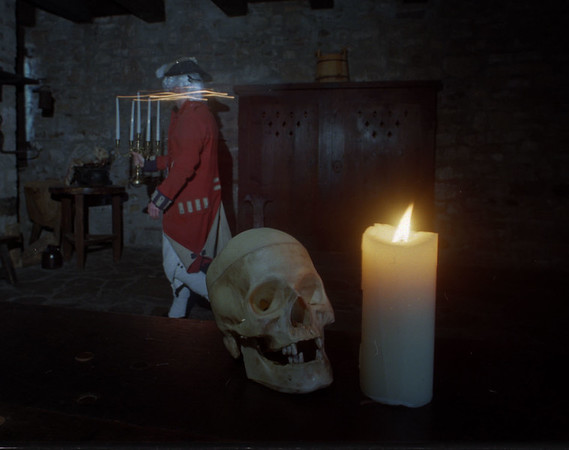 """91/10/01 Historic Hauntings2 - James """"eiss Photo - Fort spirits abound at the Fort Niagara Historic Hauntings."""