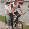 5/30/97 Bike Run - James Neiss Photo - Mary Jo Cecconi and dad Joe Cecconi prepared for bike ride held by Opportunities Unlimited.  Judy K story.