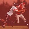 97/09/26 HS Football-- Takaaki Iwabu photo-- North Tonawanda Dan Wichlacz tackles Niagara Falls QB Thomas Kresman at Friday's game. <br /> <br /> color, Sports, Saturda