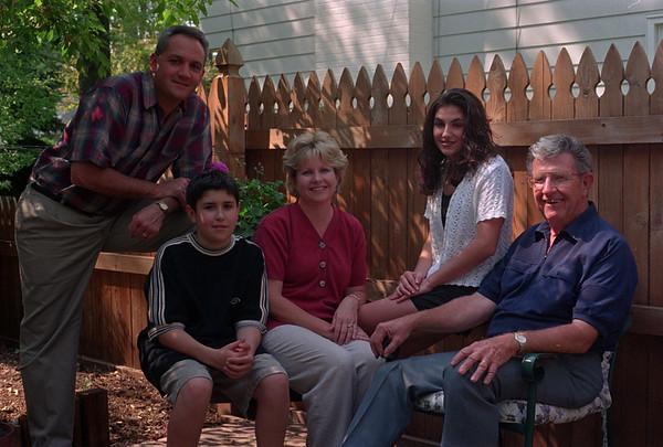 98/05/14 LaDuca Family *Dennis Stierer Photo - L-R: Ron LaDuca;  son, Michael,14;  wife Karen;  daughter, Kristen,16;  and Karen's dad, Dick Bird.