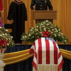 98/03//03--McLellan 1--Dan Cappellazzo photo-- Lt. Harry McLellan, brother of the slain officer Robert James McLellan, speaks at the memorial service at the Buffalo Convention Center. <br /> <br /> 1A, color, Wednesday