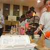 "3/12/97-- science fair--Takaaki Iwabu photo-- Stephanie Booze, right, and Hattie Herbert, second from right, show off their project ""Morning Egg Cracker"" as their friends and a teacher Eda Buzzelli, right, watch how it work during science fair at LaSalle Middle School. <br /> <br /> local, Thursday"