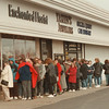 98/02/27 Beanie Line *Dennis Stierer Photo - The lines grew longer and longer as the morning went on. The first to arrive was at about 6:ooAM. and the store, Enchanted Florist did not open till 9AM. Each person received a number as to when they could get in.
