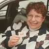 98/02/27 No. 62 in Line *Dennis Stierer Photo - It was too cold for Angela Albion of Niagara Falls to wait outside in line in front of Enchanted Florist on Military Road to get in to buy  Beanie Babies. She waited in her car to stay warm. You could only get in by number and she had a wait as hers was 62.