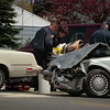 98/04/23 Trans Accident-Rachel Naber Photo-Two men were taken to the hospital after there cars collide at the corner of Transit and Lincolnshire.