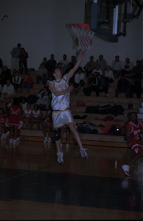 98/2/10 BB@LHS2- DAN CAPPELAZO?-JASON CHAFFIN OF LOCKPORT HIGH SCHOOL GOES FOR A CLEAR SHOT AT THE BASKET.