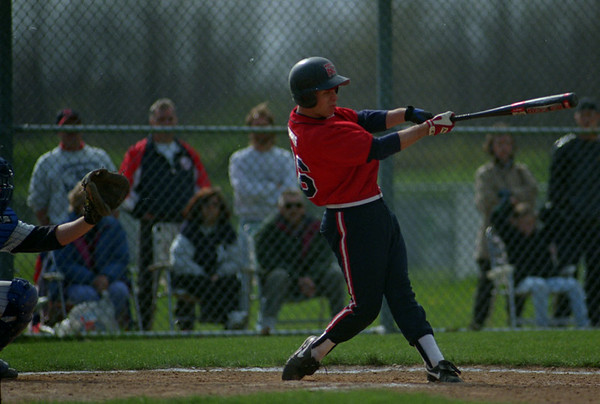 5/14/97 --NT vs Lkpt --Takaaki Iwabu photo-- Ryan Gawrys of North Tonawanda at bat against Lockport HS. (He hits grandslam)
