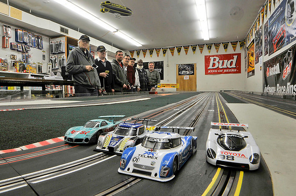 James Neiss/staff photographerNiagara Falls, NY - Slot car racers came from as far away as Honeoye Falls to race on Monday nights at the Ace Hobby Shop on Niagara Street. The shop features a Slot Car Track for 1/32 scale cars.