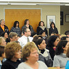 James Neiss/staff photographerSanborn, NY - It was a near standing room only crowd at the Niagara-Wheatfield School Board meeting on Wednesday.
