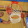 James Neiss/staff photographerSanborn, NY - Niagara County Community Collage basketball players Isaiah Johnson, right, and Lorenzo Joseph, left, are the Zig and Zo show.