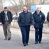 James Neiss/staff photographerNiagara Falls, NY - Niagara County Sheriff James Voutour, Niagara Falls Police Captain Frank Tedesco and Niagara Falls Police Superintendent John Chella join the investigation.