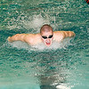 James Neiss/staff photographerNorth Tonawanda, NY - Josh Miller of Niagara Wheatfield rockets through the water to win the Boys 200 Yard IM at the Niagara Frontier League Varsity Swimming Championships at North Tonawanda High School.