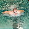 James Neiss/staff photographerNorth Tonawanda, NY - Josh Miller of Niagara Wheatfield rockets through the water to win the Boys 200 Yard IM at the Niagara Frontier League Varsity Swimming Championships at North Tonawanda High School.