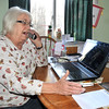 James Neiss/staff photographerTown of Niagara, NY -  Beverly Porter of Woodside Place in the Town of Niagara received a call from someone saying they were from Microsoft Computer asking her to give them access to her computer.