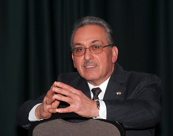 James Neiss/staff photographerNiagara Falls, NY - Former Niagara Falls Mayor Vince Anello met with reporters to talk about the city and his recent imprisonment.