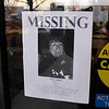 James Neiss/staff photographerNiagara Falls, NY - A missing poster for Judith Burr was posted on a door at the Summit Health Plex on Monday.