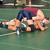 James Neiss/staff photographerLewiston, NY - 126 Lbs: Tonawanda High School wrestler Tim Barnard gets the upper hand on Lackawanna's Mujahid Ahmed during the 2012 Section 6 Class B wrestling tournament at Lew-Port High School.