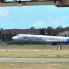 James Neiss/staff photographerNiagara Falls, NY - An Allegiant Airline jet lands at Niagara Falls International Airport.