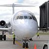 James Neiss/staff photographerNiagara Falls, NY - An Allegiant Airline jet waits to disembark its passengers at the terminal after landing at Niagara Falls International Airport.