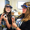 James Neiss/staff photographerLewiston, NY - Students Caitlyn Conibear of Lewiston and Sophie Mielnicki admire the labels they created after making lip balm sunscreen at STEM Camp. Niagara University's Institute of Applied Learning, an arm of its College of Education, hosted STEM (Science, Technology, Engineering and Math) Camp for girls in grades 7-9.
