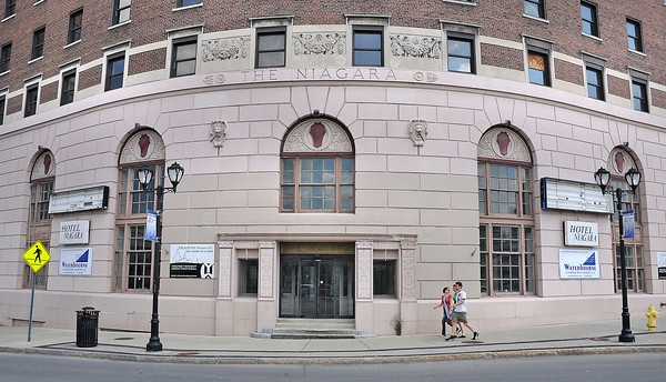 James Neiss/staff photographerNiagara Falls, NY - The owners of the historic Hotel Niagara building plan to begin renovations and hope to open the hotel in June of 2013.