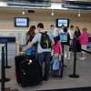 James Neiss/staff photographerNiagara Falls, NY - Allegiant Airline customers wait to check in at Niagara Falls International Airport.