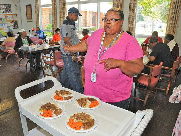James Neiss/staff photographerNiagara Falls, NY - Vanessa Walker, Niagara County Office For the Aging Site Director at St. John's AME Church on Garden is concerned for her seniors who take advantage of the nutrition program there. Some nutrition program outlets may loose the program.