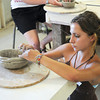 James Neiss/staff photographerLewiston, NY - Hayley Vecchio, 15 of the Town of Tonawanda, tackles a pottery project during Advanced Art Camp, part of the Camp Adventures program at Artpark.