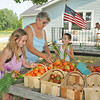 James Neiss/staff photographerYoungstown, NY - HARVEST TIME: Shirley Drinkwalter got some help sorting fresh picked vegetables by her grandchildren Bianca Blose, left, and Chris Blose, right. The family has a vegetable stand in front of their Creek Road home.