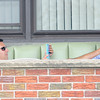 James Neiss/staff photographerNiagara Falls, NY - Jeffrey Fili of Jerauld Avenue takes advantage of the nice summer weather to kick back on his porch and surf the internet on his iPad.