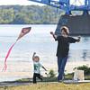 James Neiss/staff photographerNiagara Falls, NY - Jake Marawski, 2, shows pure joy flying a kite with his father Ed Murawski at the LaSalle Park.