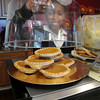 James Neiss/staff photographerNiagara Falls, NY - Zhane Stron, 12, shows off Sweet Potato Pies, a specialty at Yvonnes Bakery and Cafe. Zhane was helping out her mother and business owner Lakea Strong at the new 3rd Street business.