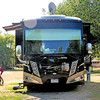 James Neiss/staff photographerYoungstown, NY - Yogie the cat, traveling in a luxury motorcoach with his owners from Colorado, enjoys the view at his 4 Mile Creek Campground site.