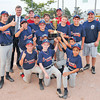 James Neiss/staff photographerNiagara Falls, NY - Mayor Paul Dyster poses with the MacLeod's Pharmacy Braves after they were awarded the Mayor's Cup for winning the city championship game against the Tops Tigers at Nicoletti Field.