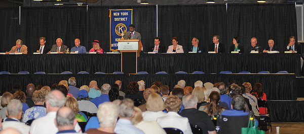 James Neiss/staff photographerNiagara Falls, NY - New York District Kiwanis Governor William F. Risbrook says a few words during opening ceremonies for the New York District Kiwanis International 95th Annual District Convention at the Conference Center Niagara Falls.