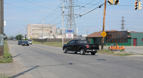James Neiss/staff photographerNiagara Falls, NY - Traffic on Buffalo Avenue will be reduced to one lane beginning August 13, according to this sign on the corner of 56th Street.