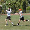 James Neiss/staff photographerWilson NY - Wilson football player Taylor Thilk catches the ball during practice.
