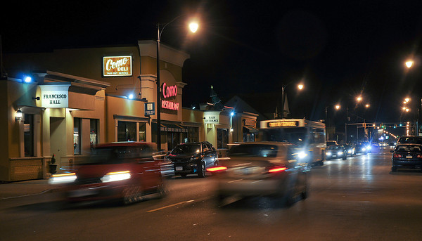 James Neiss/staff photographerNiagara Falls, NY - Traffic on Pine Avenue and 22nd Street travels past the Como restaurant where a proposed traffic light is supposed to be located.
