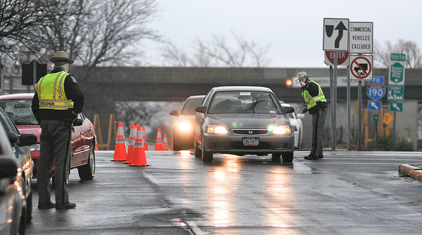 James Neiss/staff photographerNiagara Falls, NY - New York State Police conducted a safety check of cars coming off the Robert Moses Parkway onto Joseph Davis Boulevard. Cars that did not slow down to the posted 35 mph limit approaching the exit were ticketed for speeding.
