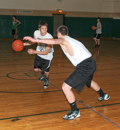 James Neiss/staff photographerLewiston, NY - J. D. Gara drives the ball past a defender during practice drills.