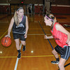 James Neiss/staff photographerNiagara Falls, NY - Niagara Wheatfield girls basketball players Rachel Pawlak and Melissa Smith do some drills during practice.